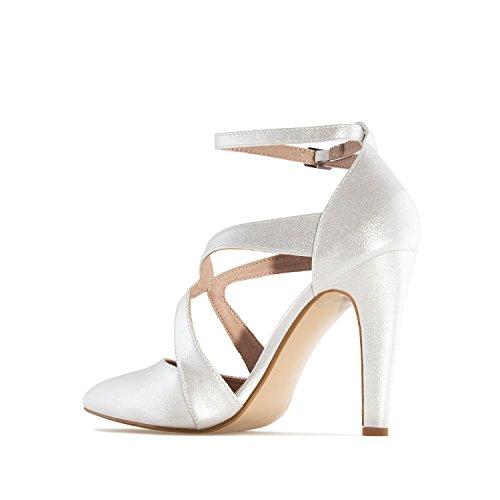 Andres Machado - Zapatos de vestir de Material Sintético para mujer plateado plata