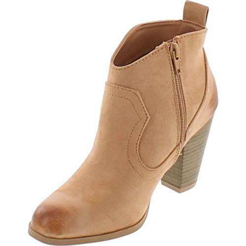 Vegan Oil Suede Ankle Toffee Nixon Distressed Stacked Qupid 02 Heel Finish Booties pqxHwnEa