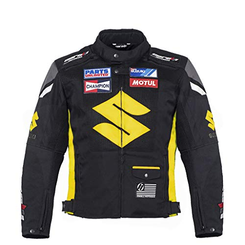 (Suzuki Yellow Textile Motorcycle Jacket (XXL (EU-58)))