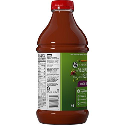 Amazon Com V8 High Fiber 100 Vegetable Juice 46 Oz Bottle Pack