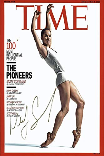 Misty Copeland Autograph Replica Super Print - Time Magazine - Portrait - Unframed