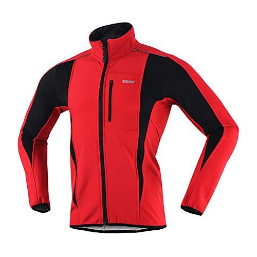 Uomo Uomo Ansemen Sportivo Sportivo Vello Rosso Giacca da Abbigliamento Ciclismo Windproof Cappotto Softshell 11rC4FEqwx