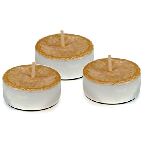 (UCO Long Burning Tealight Candles for Emergency Preparedness, Natural Beeswax, 3-Pack)