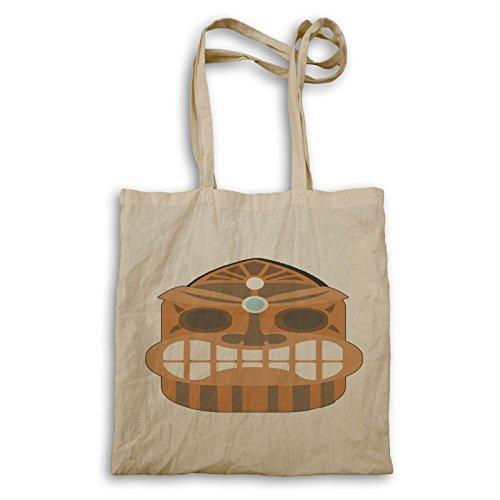 Borsa Aloha Tiki Maschera Hawaii Tote Bag O731r