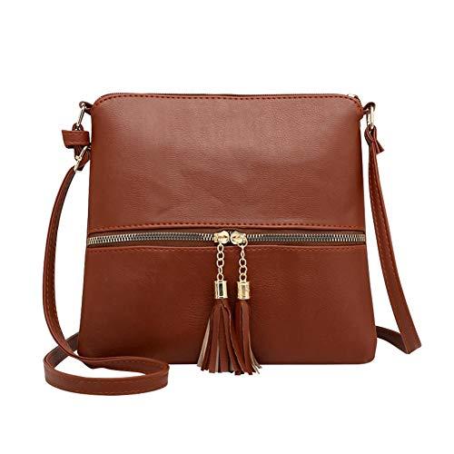 Ecotrumpuk 18 Messenger Women's Bags Women's Tassel Shoulder Pu 1OSxrw8TOq