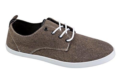 gibra - Zapatillas de tela para hombre marrón