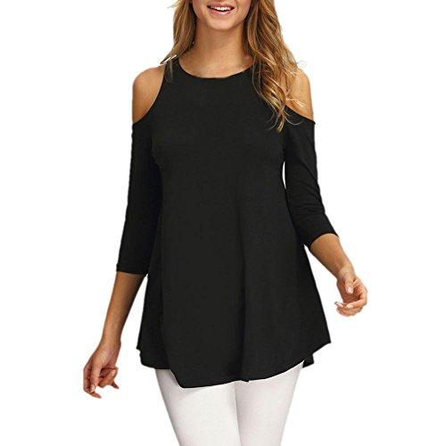 Orangeskycn Women Fashion Off Shoulder Solid Mini party Dress (L, Black)