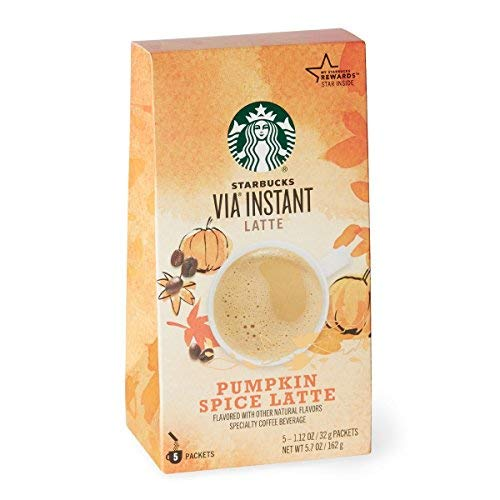 Starbucks Via Ready Brew Pumpkin Spice 5 Single Serve Packets
