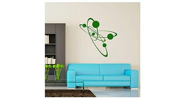 Átomo de electrones Dormitorio Mural Vinilo Tatuajes de pared ...
