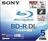 Sony Blu-ray Disc 5 Pack - 50GB 4X BD-R DL [Japanese Import]