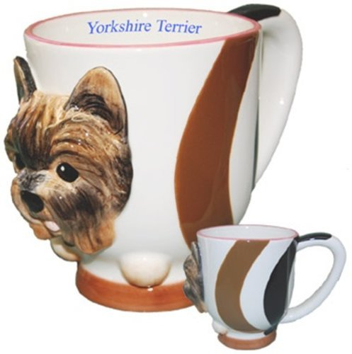 StealStreet SS-D-DC205, Yorkshire Terrier Collectible Yorkie Dog Puppy Porcelain Coffee Cup ()