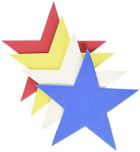 Star Foam (Darice Foam Shapes Embellishments, Stars, 12-Pack)