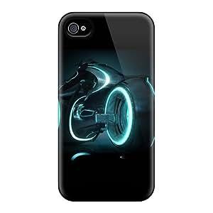 New Design Shatterproof QqHVGzI19666bueIr Case For Iphone 4/4s (tron Legacy)