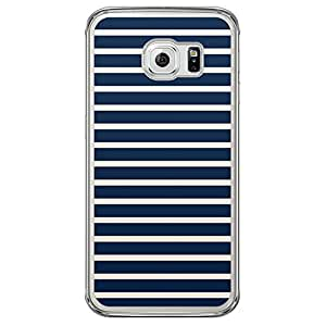 Loud Universe Samsung Galaxy S6 Edge Nautical Nautical 5 Transparent Edge Case - Blue/White