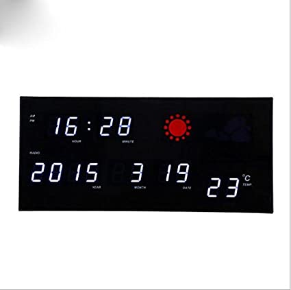 &JJ reloj digital LED LED LED del reloj del reloj de previsión meteorológica de radio digital