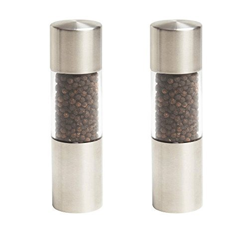Frozen Costumes Dubai (Kitchen Tools & Gadgets 2pc Set Stainless Steel Pepper Salt Grinder Hand Crank Twist Top Spice Herb Mill)