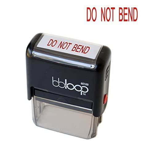 "BBloop Stamp ""DO NOT BEND"" Rectangular. Laser Engraved. RED hot sale"