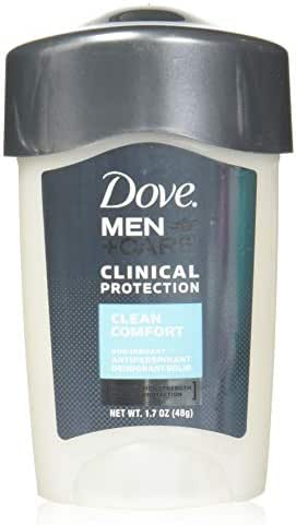 Dove Men+Care Clinical Antiperspirant Deodorant Stick, Clean Comfort, 1.7 oz