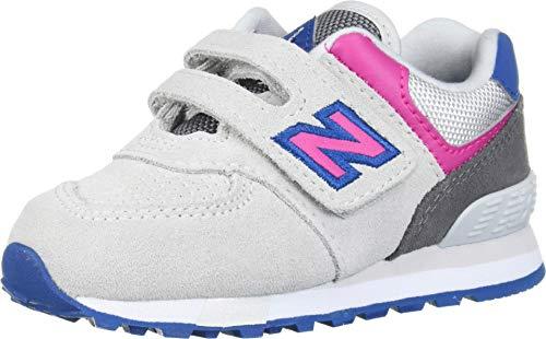 New Balance Girls 574v1 Hook and Loop Sneaker, Summer Fog/Carn, 4 O M US Infant (0-12 Months)