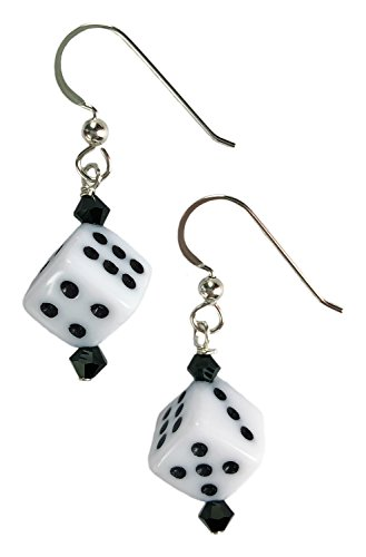 Curious Designs Earrings - White Dice