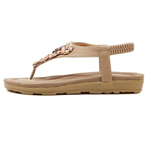 aux femmes tongs Chaussures en sandale Of Flowers Strass Styles de Bohemia