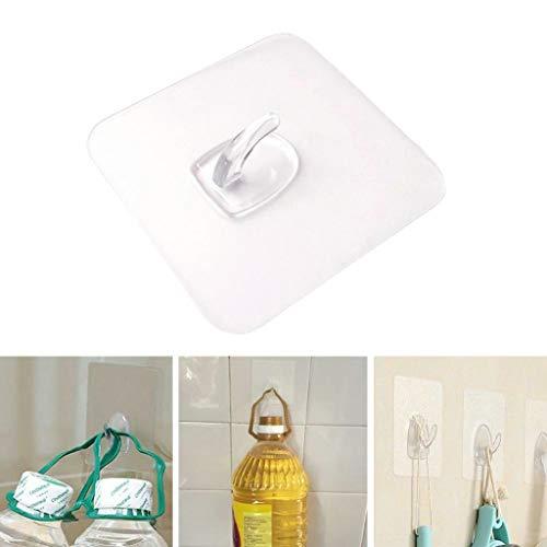 JYS Anti-skid Hooks - 2-20 Pcs Reusable Transparent Traceless Wall Hanging Hooks,Great for Kitchen Toilet Room Hanging Hooks (4Pcs) by JYS (Image #8)