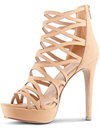Womens Open Toe High Heels Platform Shoes Stiletto Dress Sandals