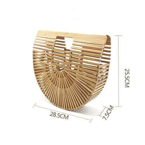 Main Brown Color Hungrybubble Bambou Large pour en Femme Sac Green Size à 6xqwE71R