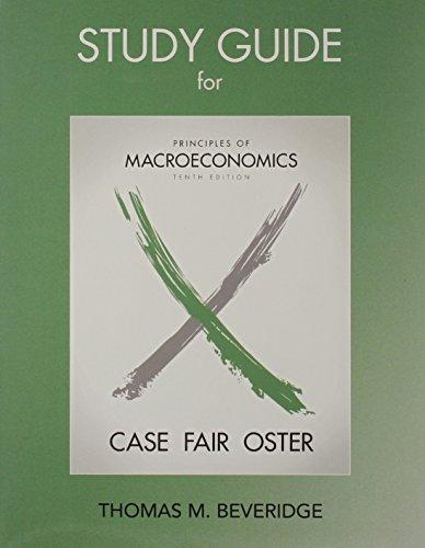 Study Guide for Principles of Macroeconomics