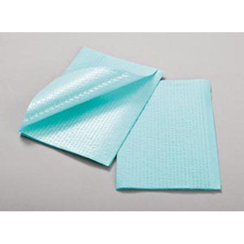 Towel, 3-Ply Tissue & Poly, Blue, 13'' x 18'', Rib Embossed 500 pk