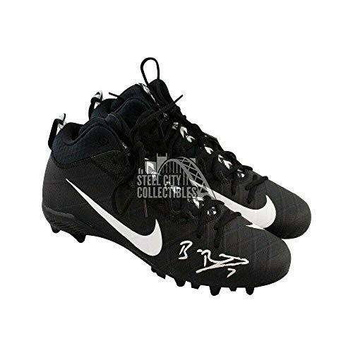 Ben Roethlisberger Autographed Black Nike Football Cleats - Beckett COA - Beckett Authentication - Autographed NFL Cleats