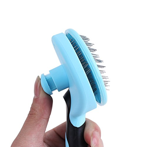 on sale Pet hair removal comb pet brush has a unique self-cleaning brush to remove mats and tangles, dogs and cats
