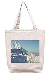 Banco en invierno - lona del algodón bolso de mano