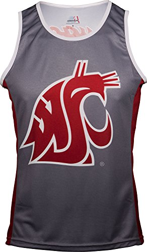(Adrenaline Promotions NCAA Washington State Cougars Run/TRI Singlet, Red, X-Large)