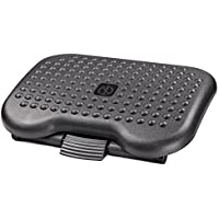 "Halter F6031 Premium Ergonomic Foot Rest - 18.1"" X 13.3"" - Adjustable Angle & 3 Different Height Positions - Black"