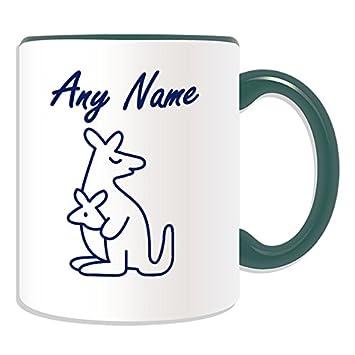 Personalisiertes Geschenk Einfach Zeichnen Kanguru Tasse Animal