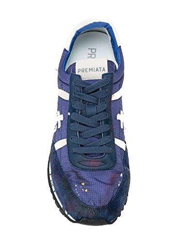 Premiata Mens Sean2895 Sneakers In Pelle Blu