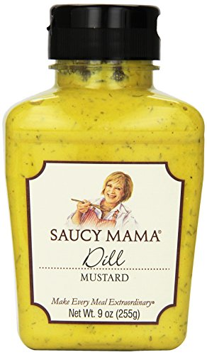 Saucy Mama Dill Mustard, 9 Ounce (Pack of 6)