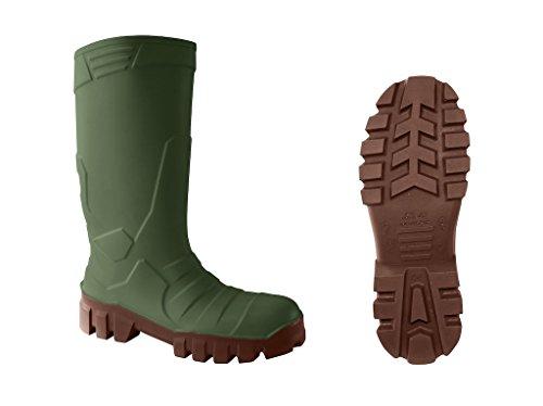 DIKAMAR S5 Sicherheitsstiefel ALPHA ICEPACK Gummistiefel Winterstiefel Thermostiefel, grün, Gr. 44