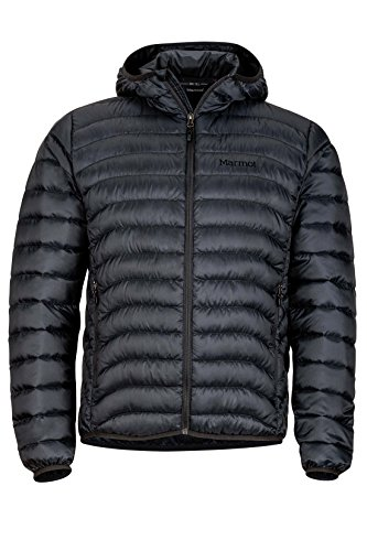 Marmot Tullus Hoody Men's Winter Puffer Jacket, Fill Power 600, Jet Black, X-Large ()