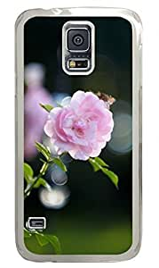 Pink Rose Bokeh Clear Hard Case Cover Skin For Samsung Galaxy S5 I9600 hjbrhga1544