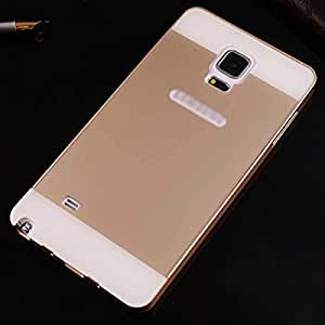 Ultrathin Aviation 2In1 No Screws Frame Cover Ultra Thin Luxury Aluminum Metal Bumper Case For Samsung Galaxy Note4 N9100 Gold-Gold