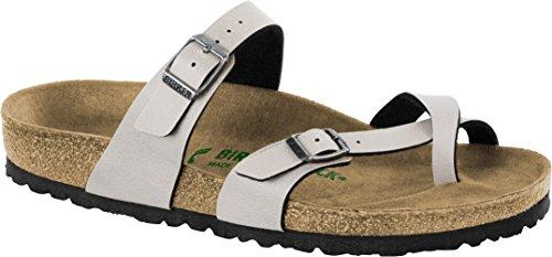 Birkenstock New Women's Mayari Vegan Sandal Pull Up Stone 41 -