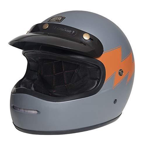 Capacete Urban Bigbore Thunder Vintage Cinza, Urban Helmets , Cinza/Laranja ,Tamanho M