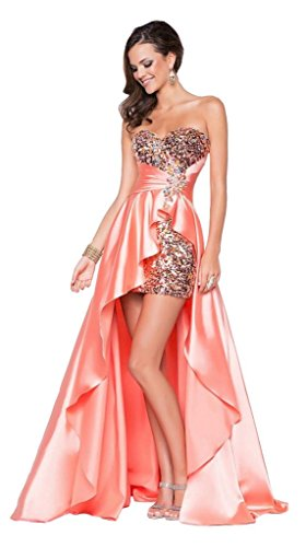 Long Short Evening Gown Drasawee Back Beaded Women Front Party Dress Pink Prom Evening gRSHn