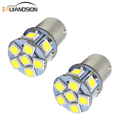 1156 Light Bulb Ruiandsion 2pcs 6V 1156 BA15S LED Bulb RV Light White 5050 12SMD for Back Up Reverse Turn Signal Tail Lights,Non-polarity
