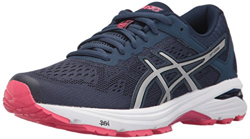 ASICS Women's GT-1000 6 Running Shoe, Insignia Blue/Silver/Rouge Red, 5.5 Medium US