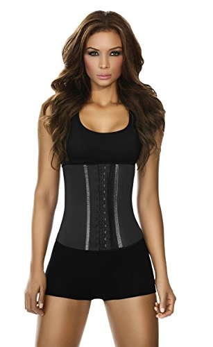 Ann Chery Women's Faja Deportiva Workout Waist Cincher, Black, Medium/34