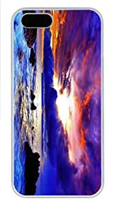 wholesale cover purple red sunset coast PC White Case for iphone 5/5S