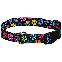 Lovely Elmou0027s Closet Hash Tag Paws Dog Collar (Large)